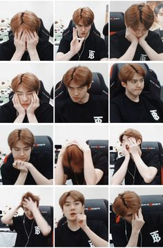 Sehun of exo meme Hunhan, Exo Ot12, Exo Xiumin, Kpop Exo, K Pop, Sehun Cute, Xiuchen, Kim Minseok, Kim Junmyeon
