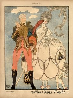 George Barbier 1918 Hussar Military, Soldier, 18th Century Costumes