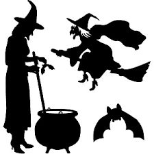 black witch stencil - Google Search