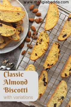 The easiest recipe for classic Italian biscotti along with a few variations! #biscotti #italiancookies