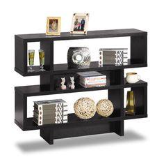 Black 2-Tier Display Cabinet 29259