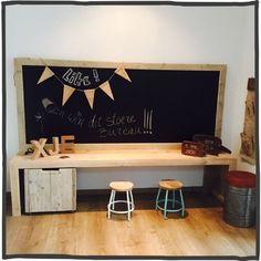 kids homework center in playroom