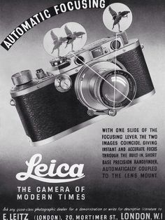 fromand:  vintage leica ad: automatic focusing   The beautiful Leica III.