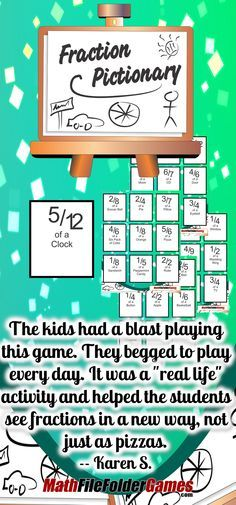 Fraction Pictionary: Recognizing Fractions with Drawing {Fraction Game} $5