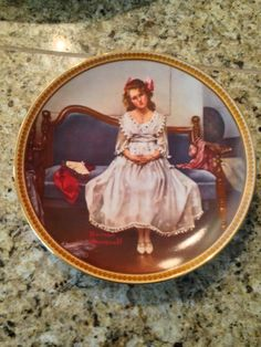 Knowles Waiting At The Dance Plate Rockwell's Rediscovered Women Collection on Etsy, $22.00