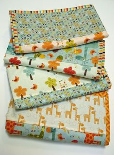 4 Baby Quilts in 4 H