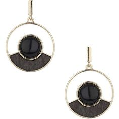 Dorothy Perkins Circular Wood Drop Earrings ($12) ❤ liked on Polyvore featuring jewelry, earrings, black, wooden earrings, circular earrings, bead jewellery, beaded drop earrings and circle earrings