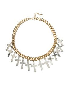 Pixie Lott For Rock 'N Rose Holly Cross Necklace