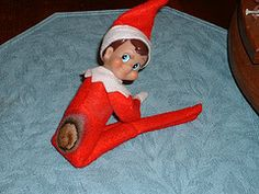 Note to all who do Elf on the Shelf - keep away from flammable sources, including light bulbs...