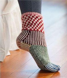 Martingale – Knitting Scandinavian Slippers and Socks eBook - Knitting for Beginners Crochet Socks, Knitted Slippers, Knitting Socks, Hand Knitting, Knit Crochet, Knit Socks, Crochet Granny, Loom Knitting, Textiles
