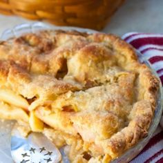 Homemade Apple Pie with Lemon Butter Crust