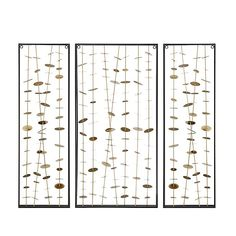 Madison Park Clement 3-Piece Metal Wall Art | Bed Bath & Beyond Small Wall Decor, Wall Decor Set, Tree Wall Decor, Metal Wall Decor, Metal Tree Wall Art, Wall Sculptures, Wall Plaques, Flower Wall, Metal Walls