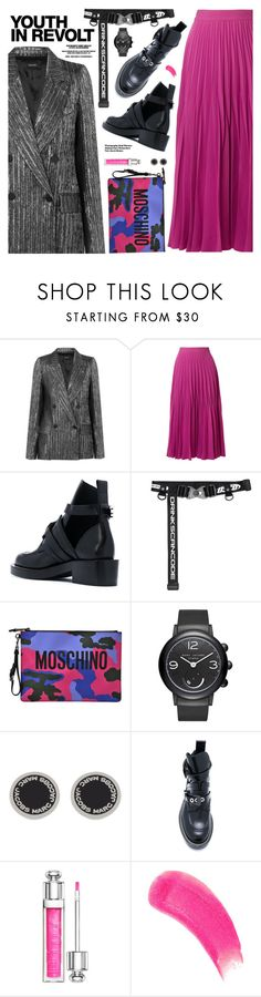 """Edgy Style"" by pokadoll ❤ liked on Polyvore featuring Isabel Marant, CO, Moschino, Marc Jacobs, Christian Dior, Hedi Slimane, Sisley, polyvoreeditorial and polyvoreset"