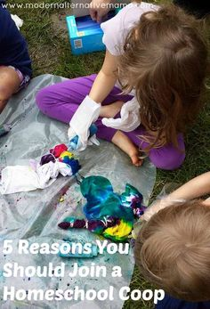 Today's the first day of our homeschool coop and we couldn't be more excited! We can't wait to see our friends again and get started on our awesome projects. If you've never been part of one, you're missing out -- here are 5 reasons why!