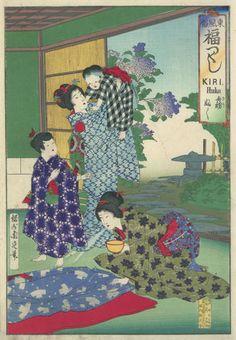 Domestic Scene by Toyohara Chikanobu 豊原 周延 (Japanese Print)
