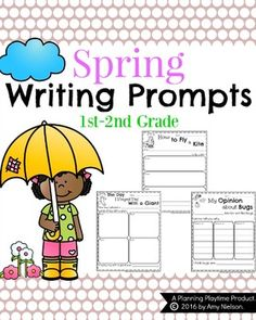 Awesome Spring Writing Prompts for First Grade. Narrative, Informative, and Opinion Writing organizers and draft pages included in fun spring themes. First Grade Writing Prompts, Narrative Writing Prompts, Writing Prompts Funny, Paragraph Writing, Writing Rubrics, Persuasive Writing, Writing Lessons, Writing Process, Writing Activities