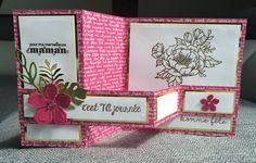 Carte double Z fête des mères et son tutoriel par Marie Meyer Stampin up - http://ateliers-scrapbooking.fr/