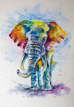 Kovács Anna Brigitta-Big colorful elephant