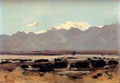 Seascape Près de Trouville, huile sur toile de Gustave Courbet (1819-1877, France)