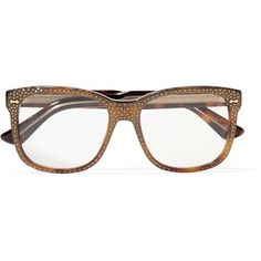 1f718a574b Gucci Crystal-embellished square-frame acetate optical glasses