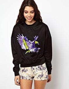 ASOS Sweatshirt with Embellished Eagle