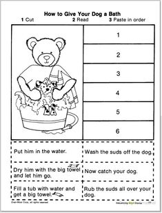 sequencing worksheets | SHORT STORY SEQUENCING (CUT & PASTE ...