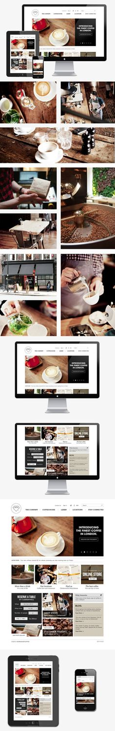 Workshop coffee.co by Michele Bona, via Behance