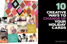 10 creative ways to change up your holiday cards this year. From modern color schemes, to really cool card designs
