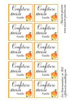 """Etiquettes à confiture """"Les Gourmandises de FLO"""" 123flobricole.canalblog.com"""