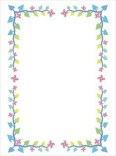 Colored leaf frame