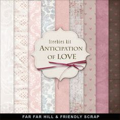 New Freebies Background Kit - Anticipation of Love