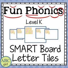 Fundations Kindergarten SMARTBoard Letter Tiles Sound Car