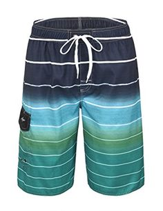 751438048a Hopgo Men's Swim Trunks 22″ Quick Dry Beach Shorts Boardshorts with Mesh  Lining Review Mens