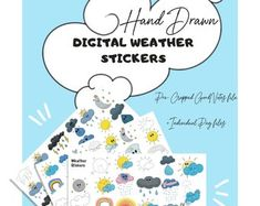 Weather digital planner stickers for tracking in your digital planner! Goal Tracking, Planner Book, Productive Day, Planner Organization, Setting Goals, Handmade Items, Handmade Gifts, Planner Stickers, Etsy Seller
