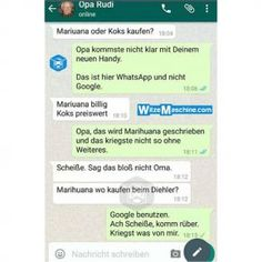 Lustige WhatsApp Bilder und Chat Fails 218 – Opa will Drogen kaufen Funny WhatsApp Pictures and Chat Fails 218 – Grandpa wants to buy drugs Top Funny, Funny Cute, Hilarious, Whatsapp Pictures, Funny Test, Jimin, Bad Puns, Super Funny Quotes, Nursing Memes