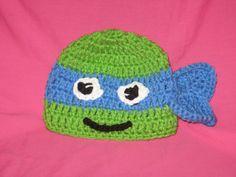 Crochet Teenage Mutant Ninja Turtles hat by PaulasCrochetArmoire, $9.99