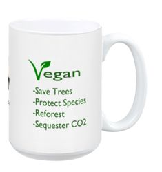 Vegan Climate Action Mug (15 oz)