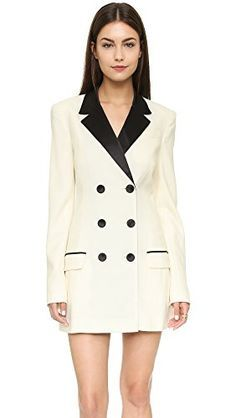 Nail the menswear-inspired trend in this contemporay Rachel Zoe tuxedo dress.