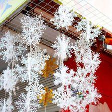 White Snowflake Ornaments Christmas Tree Decoration Home Festival Decor HOT SALE