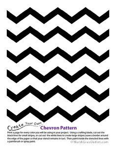 free chevron templates