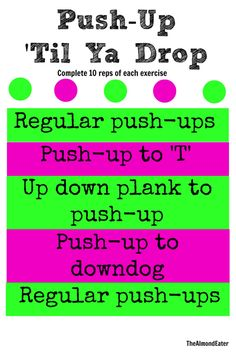 Guys, I've come a long way with push ups. I am by no means a push up queen who can just spit out 50 pushups like NBD, but I am much better than I used to be. Turns out the more you do then the easier they become. Weird… Last week I was at home...Read More »