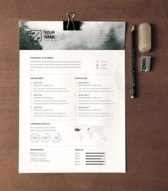 formatos para currículum Graphic Design Resume, Cv Design, Graphic Design Layouts, Resume Design Template, Cv Template, Resume Templates, Resume Pdf, One Pager Design, Desgin