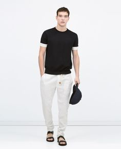 ZARA - MAN - Linen drawstring trousers