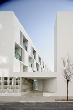 Can Travi, Barcelona, 2005 by GRND82 #architecture #socialhousing #spain #barcelona #design #white