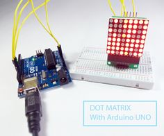 Dot Matrix With Interfacing With Arduino Led Projects, Arduino Projects, Arduino Lcd, Display Technologies, Led Diy, Lovely Shop, Home Automation, Raspberry, Etsy Seller