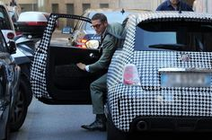 Lapo 500 Houndstooth car wrap COOL.  Our inspiration.  Now THAT's Italian.