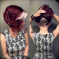 35 auffallend kurze rote Frisuren - Kids Snacks - Make Up Brushes - DIY Piercing - Red Hair Styles - DIY Interior Design Short Red Hair, Blue Hair, Short Hair Cuts, Burgundy Hair, Undercut Hair Designs, Cool Hair Color, Hair Colors, Pretty Hairstyles, Red Hairstyles