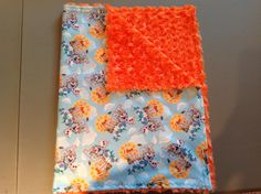 "Disney Frozen Olaf ""I love heat"" with orange rose small blanket for travel or in the stroller."