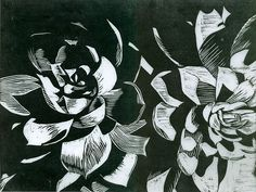 Black and White Succulent print by vanessakale