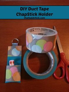 DIY Duct Tape ChapStick Holder